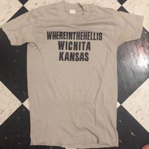 "vintage tee ""where in the hell is witchita Kansas"""